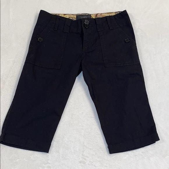 Sanctuary Pants - Sanctuary Black Long Shorts